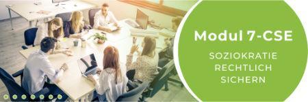 """Banner CSE7 sm - Modul 7-CSE: Die SKM implementieren in einer Organisation """"Rechtliche Sicherung"""""""