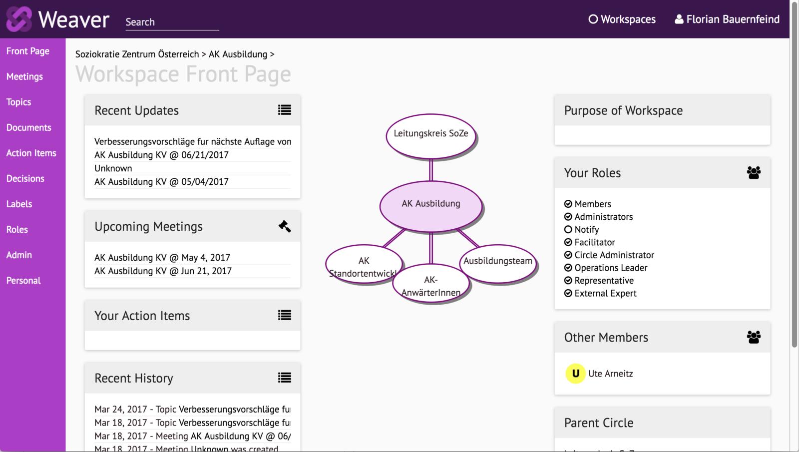 CircleWeaver - Online Logbuch