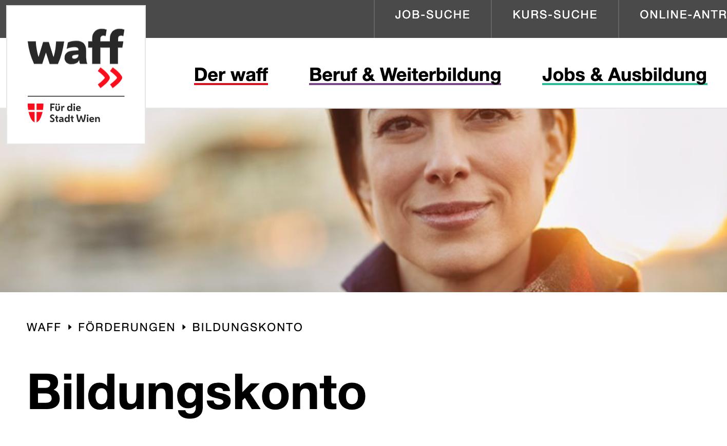 Waff-Bildungskonto für WienerInnen
